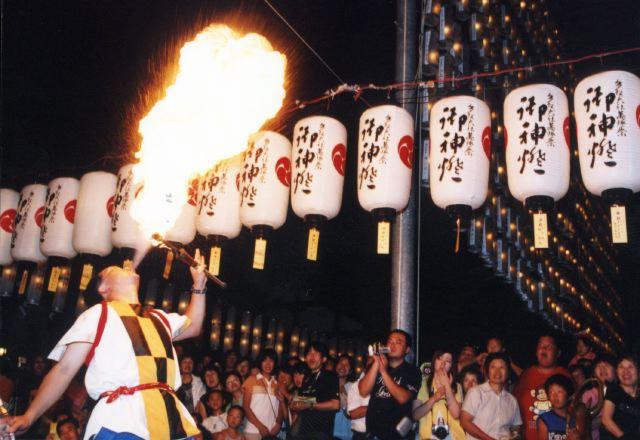 2005年 万灯祭奉納演舞 15